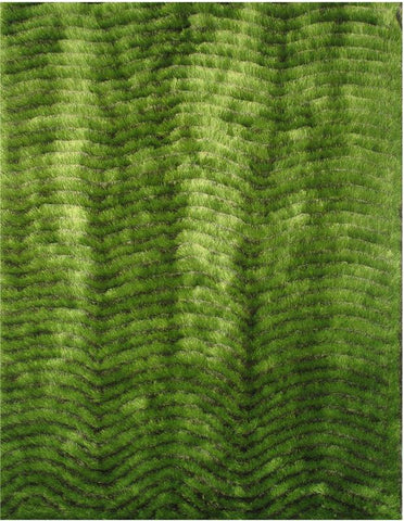 LA Rug CO-212-5X73 Contempo Shaggy Collection Light/Dark Green - Peazz.com