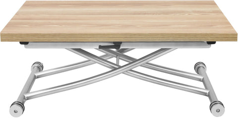 Corner Housewares CO-2219-LGTWD Transforming X Coffee and Dining Table in Light Wood Finish