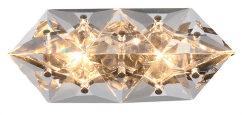 Crystorama Collins 2 Light Polished Chrome Sconce