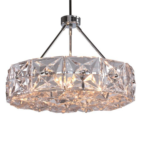 Crystorama Collins 6 Light Polished Chrome Chandelier