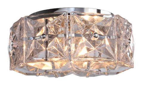 Crystorama Collins 4 Light Polished Chrome Ceiling Mount