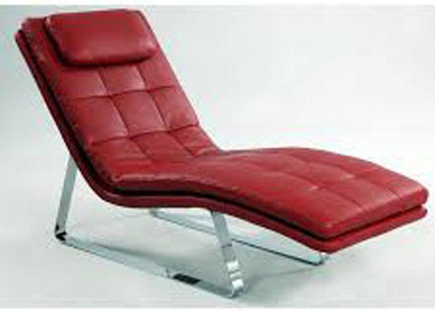 Chintaly CORVETTE-LNG-RED Chaise Seat - Red