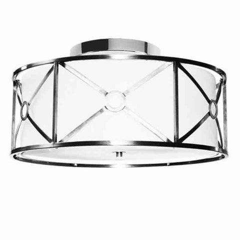 Dainolite CRU-204SF-PC 4LT Flush-Mount Metal Cage w/Wh Shd