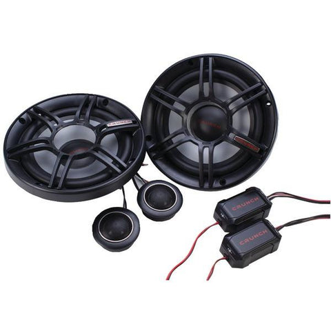 "Crunch CS65C CS Series 6.5"" 300-Watt 2-Way Component Speaker System - Peazz.com"