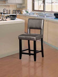 Linon CS035PWTR01U Velma Pewter Counter Stool