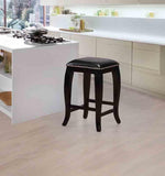 Linon CS044BLK01U Scottish Black Square Top Counter Stool