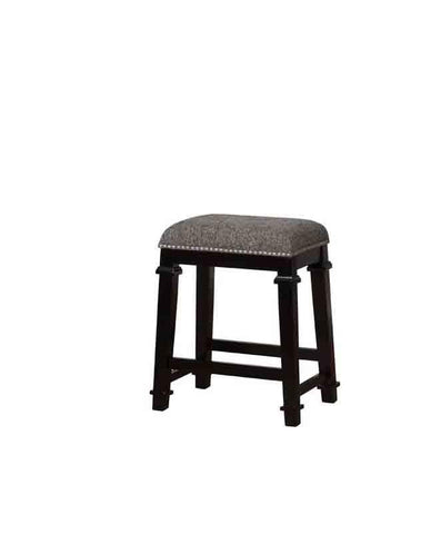 Linon CS092BLK01U Kyley Black And White Tweed Backless Counter Stool