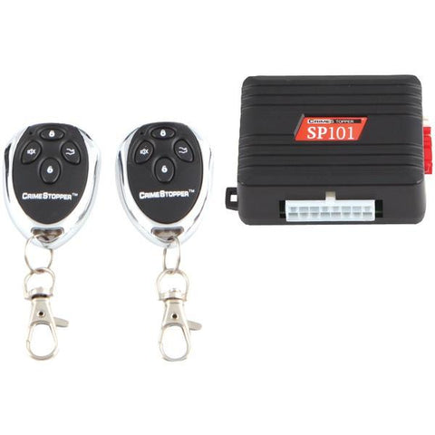 CrimeStopper Security Products SP-101 1-Way Alarm & Keyless-Entry System - Peazz.com