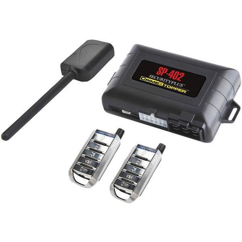 CrimeStopper Security Products SP-402 1-Way Combo Alarm, Keyless-Entry & Remote-Start System - Peazz.com