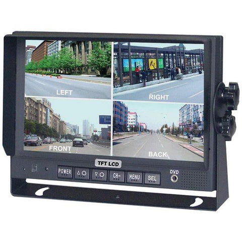 "CrimeStopper Security Products SV-8900.QM.II 7"" Color LCD Monitor with Built-in Quad View - Peazz.com"