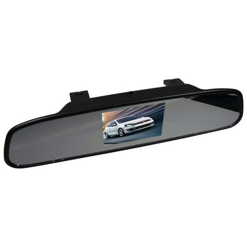 "CrimeStopper Security Products SV-9151 Retrofit Clip-on Mirror with 4.3"" Screen - Peazz.com"
