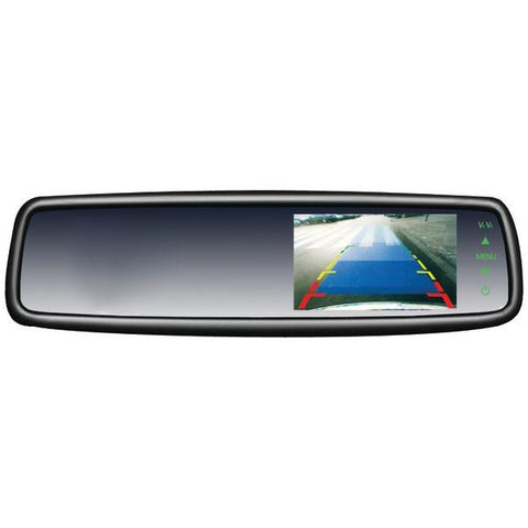 "CrimeStopper Security Products SV-9153 OEM Replacement-Style Mirror with 4.3"" Screen - Peazz.com"
