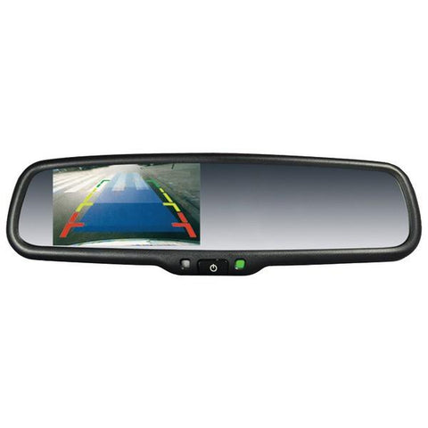 "CrimeStopper Security Products SV-9156 OEM Replacement-Style Mirror with 4.3"" Screen - Peazz.com"