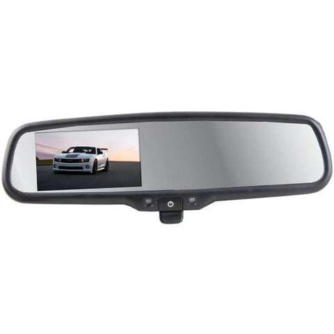 "CrimeStopper Security Products SV-9157 OEM Replacement-Style Mirror with 4.3"" Screen & Manual-Dimming Switch - Peazz.com"