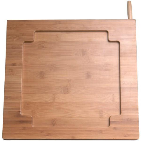 CTA Digital PAD-BKS iPad Bamboo Adjustable Kitchen Stand with Knife Storage - Peazz.com