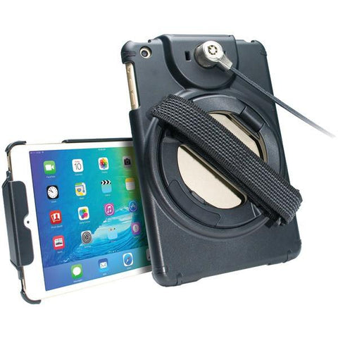 CTA Digital PAD-ACGM iPad mini/iPad mini 2/iPad mini 3/iPad mini 4 Antitheft Case with Built-in Grip Stand - Peazz.com