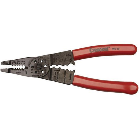 "Crescent WS19H 8"" Crimper/Wire Cutter - Peazz.com"