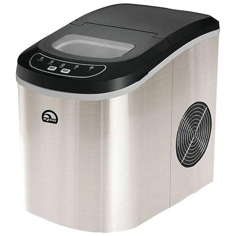 Igloo ICE102ST Compact Ice Maker (Stainless Steel) - Peazz.com