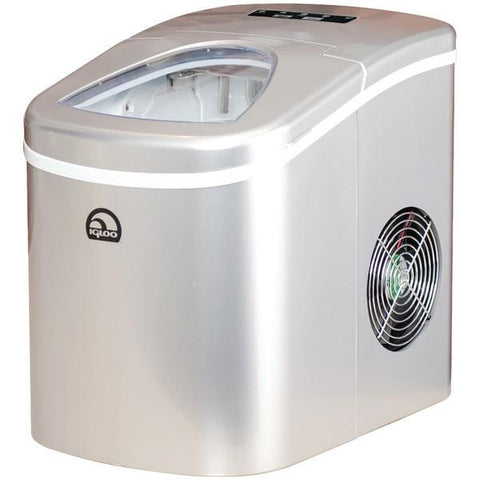 Igloo ICE108-SILVER Compact Ice Maker (Silver) - Peazz.com
