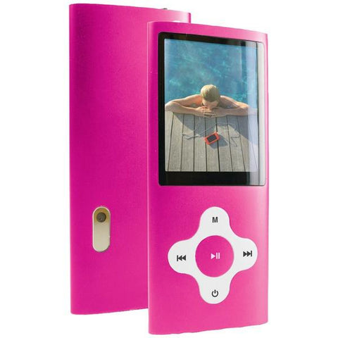 "Curtis MPK8099BUK-PINK 8GB 2.0"" Video MP3 Players (Pink) - Peazz.com"