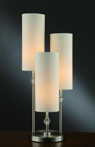 "Crestview Collection CVAER154 Bolivar 3 Arm Table Lamp 29.5""Ht. 5.5 X 5.5 X 13.5 - PeazzLighting"