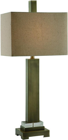 "Crestview Collection CVAER353 Academy Table Lamp 33""Ht. 9/14 X 9/14 X 10 - PeazzLighting"