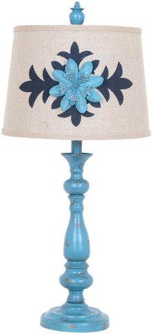 Crestview Collection CVAER601 Morning Glory Table Lamp 11 X 13 X 9.5 - PeazzLighting