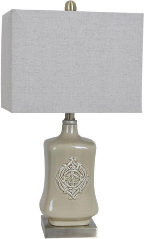Crestview Collection CVAP1810 Carlisle Table Lamp 12.5/8 X 12.5/8 X 9.5 - PeazzLighting