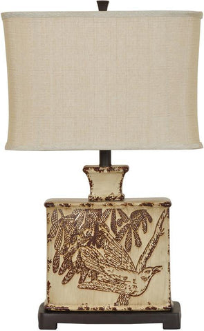 Crestview Collection CVAP1832 Elsie Table Lamp 16/10 X 16/10 X 11 - PeazzLighting