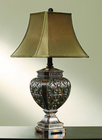 Crestview Collection CVATP405 Biscayne Table Lamp 8/8 X 17/17 X 12.5 - PeazzLighting