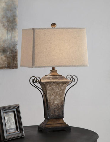 "Crestview Collection CVAUP720 Tuscana Table Lamp 33.5""Ht 11/17 X 12/18 X 12 - PeazzLighting"