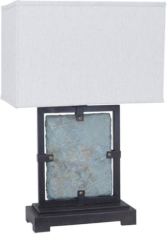 Crestview Collection CVAVP077 Slate Slab Outdoor Table Lamp 18/12 X 18/12 X 12 - PeazzLighting