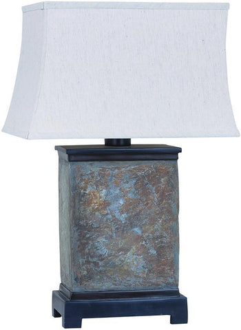 Crestview Collection CVAVP078 Slate Slab Outdoor Table Lamp 15/9 X 17/11 X 10.5 - PeazzLighting