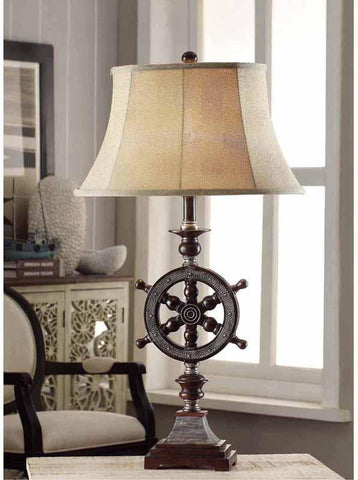 Crestview Collection CVAVP161 Ships-Wheel Table Lamp 13/8.5 X 19.5/12 X 11 - PeazzLighting