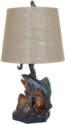 Crestview Collection CVAVP175 First Catch Table Lamp 12 X 15 X 12 - PeazzLighting