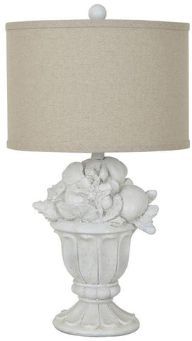 Crestview Collection CVAVP319 Shell Urn Table Lamp 14 X 14 X 9.5 - PeazzLighting