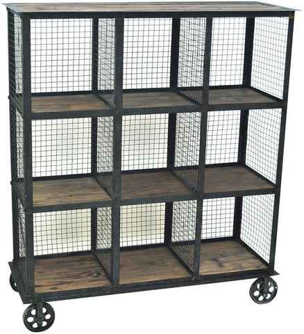 Bayden Hill CVFZR1004 Industria Metal And Wood Bookcase 37 X 13.5 X 41.5 - Peazz.com