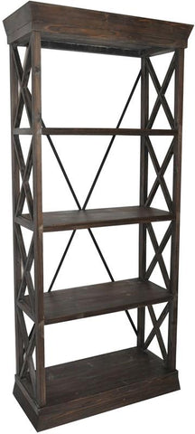 Bayden Hill CVFZR1051 Grand Junction Bookcase 33.25 X 14.5 X 76.25 - Peazz.com