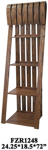 Bayden Hill CVFZR1248 Deer Run Sled Bookcase 24.25 X 18.5 X 72 - Peazz.com