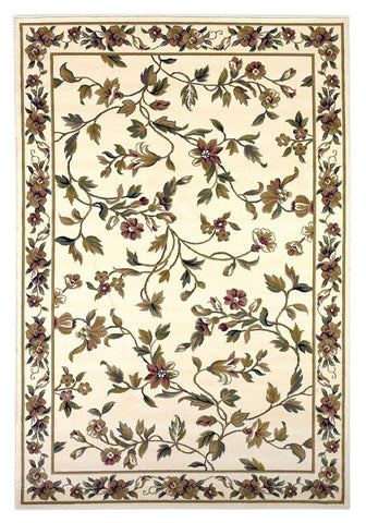 "KAS Rugs Cambridge 7331 Ivory Floral Vine Machine-Made 100% Heat-set Polypropelene 2'3"" x 3'3"""