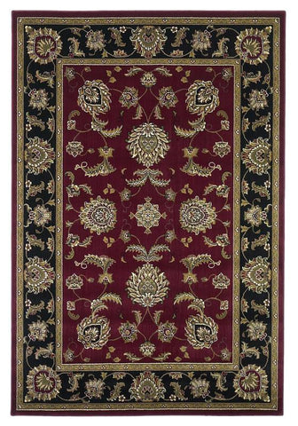 "KAS Rugs Cambridge 7342 Red/Black Bijar Machine-Made 100% Heat-set Polypropelene 3'3"" x 4'11"""