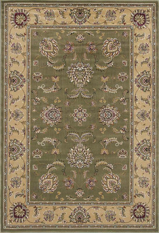 "KAS Rugs Cambridge 7343 Sage/Beige Bijar Machine-Made 100% Heat-set Polypropelene 20"" x 31"""