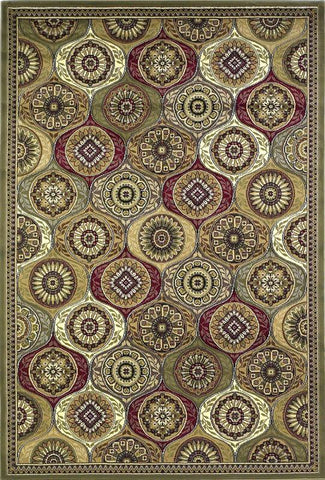 "KAS Rugs Cambridge 7345 Multi Mosaic Panel Machine-Made 100% Heat-set Polypropelene 2'2"" x 7'11"" Runner"