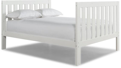 Canwood 2502-1 Lakecrest Double Bed-White (Bundle) - Peazz.com