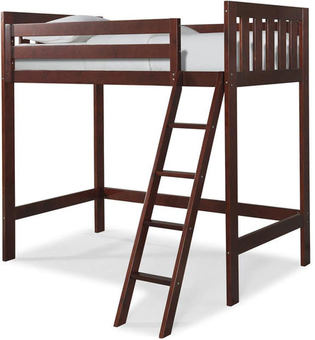 Canwood 2511-4 Lakecrest Loft Bed Bundle-Cherry (Angled Ladder)                                                             - Peazz.com