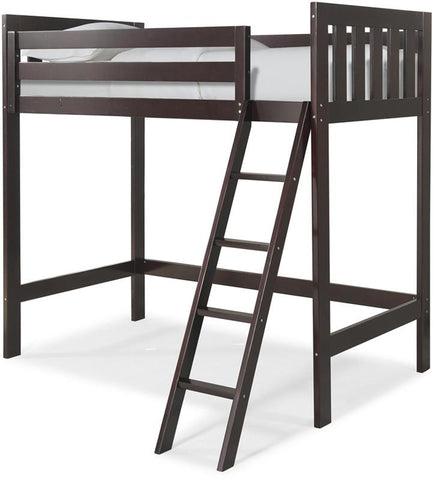 Canwood 2511-9 Lakecrest Loft Bed Bundle-Espresso (Angled Ladder)                                                             - Peazz.com