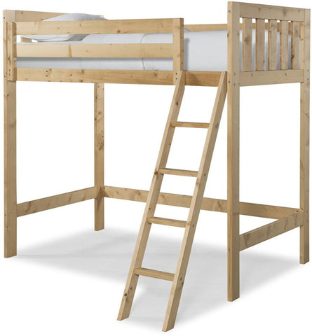 Canwood 2511-5 Lakecrest Loft Bed Bundle-Natural (Angled Ladder)                                                             - Peazz.com