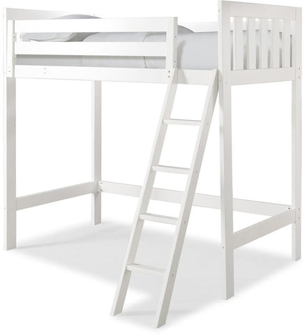 Canwood 2511-1 Lakecrest Loft Bed Bundle-White (Angled Ladder) - Peazz.com