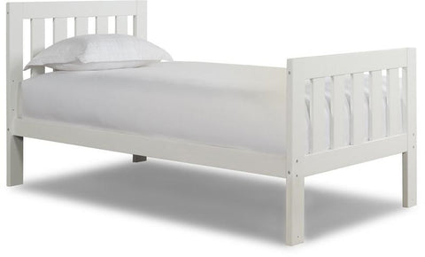Canwood 2501-1 Lakecrest Twin Bed-White (Bundle) - Peazz.com
