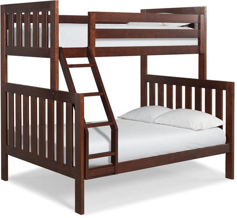 Canwood 2504-4 Lakecrest Twin/Double Bunk Bed Bundle-Cherry (Angled Ladder)                                                 - Peazz.com
